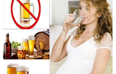 Mẹ tuyệt đối không được uống rượu trước và trong khi mang thai