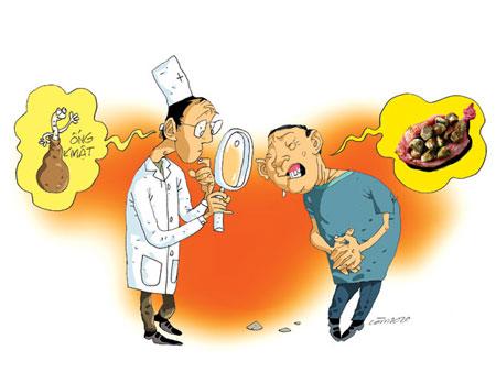 Mất cân đối thức ăn tạo nên chứng khó tiêu