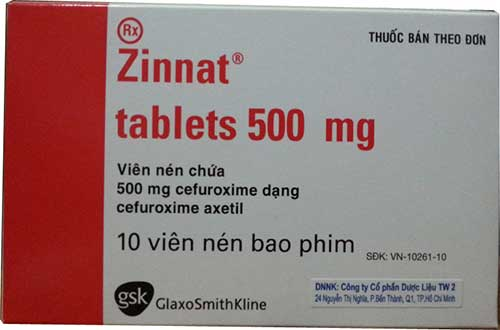 Liều lượng dùng thuốc Zinnat tablets 500mg cho người lớn
