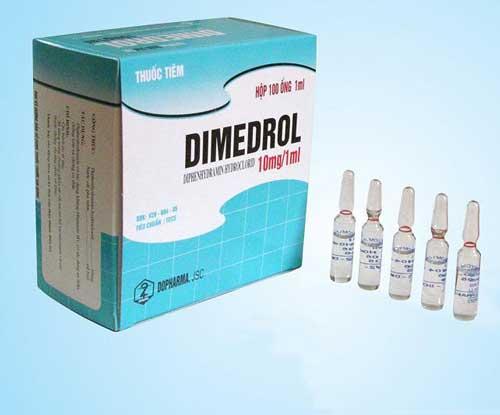 Tác dụng không mong muốn khi sử dụng thuốc Dimedrol