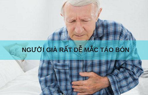 Bệnh táo bón thường xuất hiện ở người già