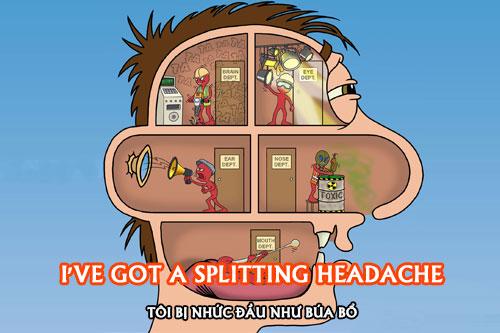 Tôi bị nhức đầu như búa bổ