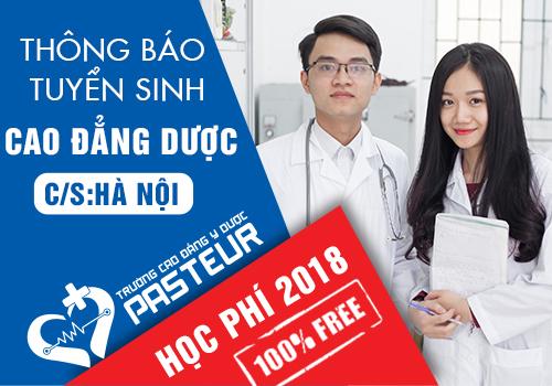 Miễn giảm 100% học phí khi đăng ký học Cao đẳng Dược năm 2018