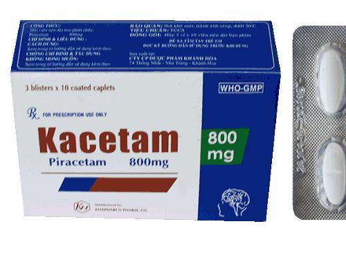 Tác dụng của thuốc Kacetam 800mg