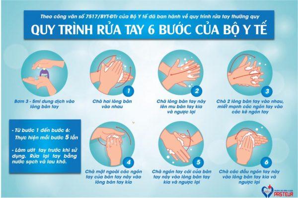 Quy trình rửa tay đúng cách