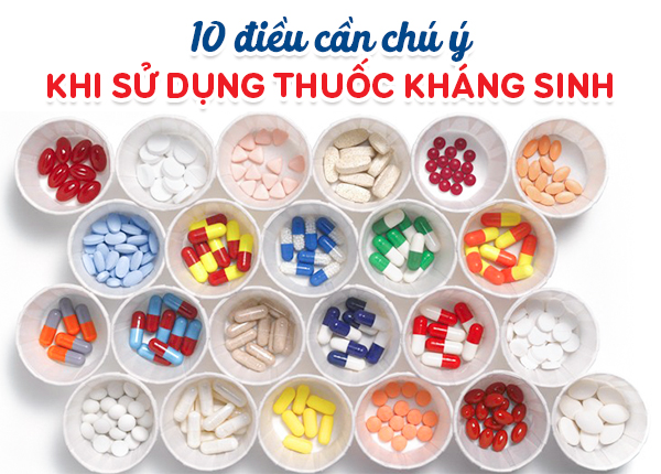 10 điều cần chú ý khi sử dụng thuốc kháng sinh