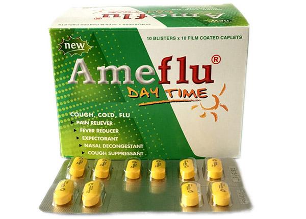 Thuốc cảm cúm Ameflu giúp giảm đau, hạ sốt, chữa trị cảm cúm