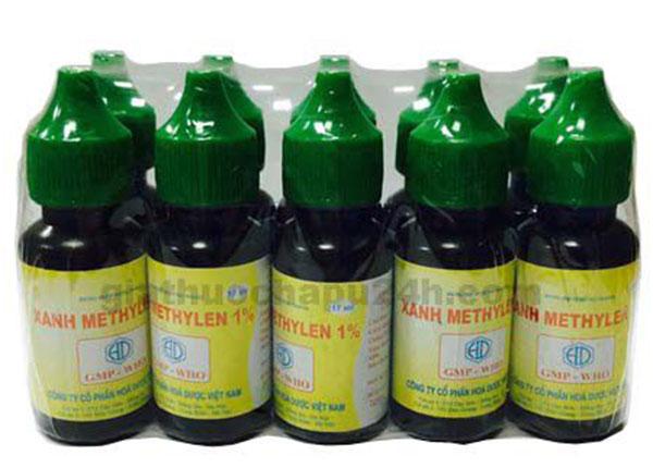 Thuốc Xanh Methylene được điều chế theo dạng viên nén, dạng bôi, dạng tiêm